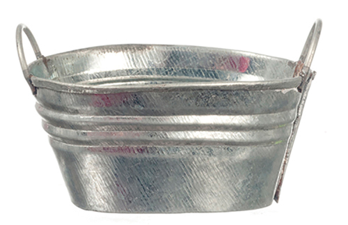 Dollhouse Miniature Tin Wash Bucket