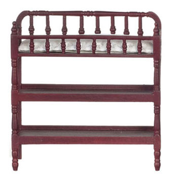 Dollhouse Miniature Victorian Changing Table, Mahogany