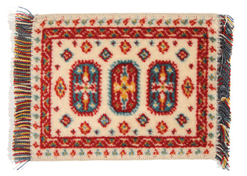 Dollhouse Miniature Caucasian Rug/Multi/5 X 7