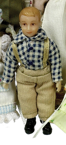 Dollhouse Miniature Karl Peterson Country Victorian Boy