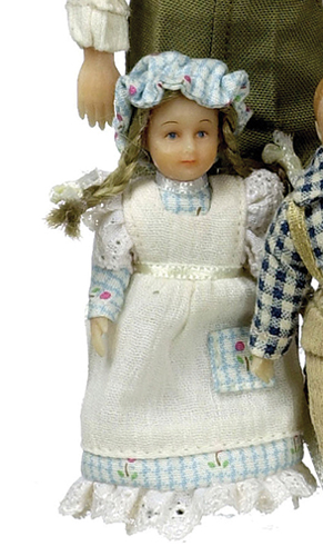 Dollhouse Miniature Kristen Peterson Country Victorian Girl