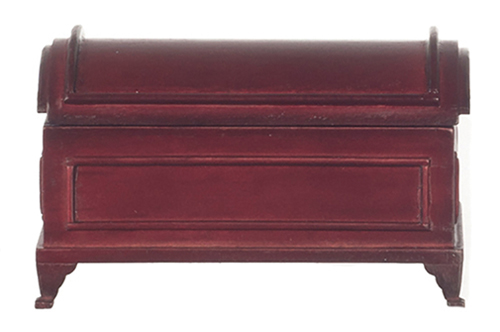 Dollhouse Miniature Domed Blanket Chest, Mahogany