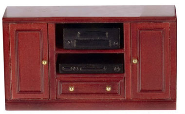 Dollhouse Miniature Console Table, Mahogany