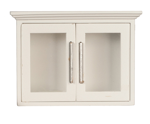 Dollhouse Miniature Kitchen Upper Cabinet, White