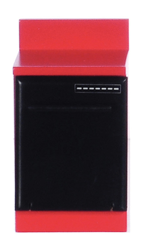 Dollhouse Miniature Dishwasher, Red