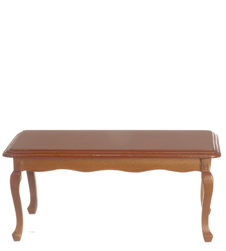 Dollhouse Miniature Queen Anne Dining Table, Walnut