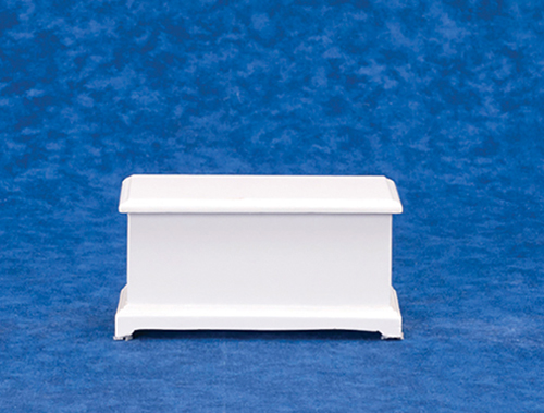 Dollhouse Miniature Large Toy Box, White