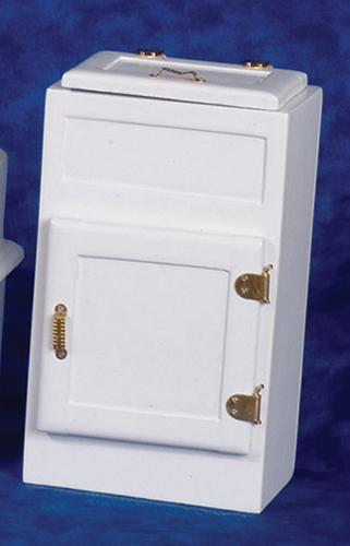 Dollhouse Miniature Ice Box with 2 Doors, White