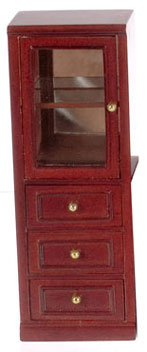 Dollhouse Miniature Tall Storage Shelf, Left
