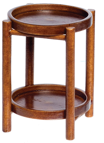 Dollhouse Miniature Warwick Butler Table, Walnut