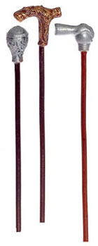 Dollhouse Miniature Walking Sticks, Set of 3