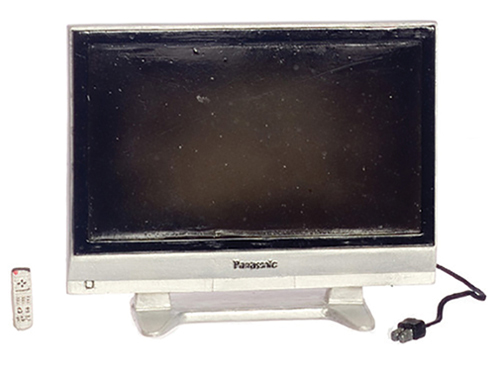 Dollhouse Miniature50 In Widescreen TV with Remote
