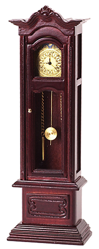 Dollhouse Miniature Working Grandfather Clock