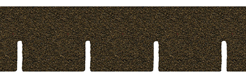 Dollhouse Miniature Brown Square Asphalt Shingles