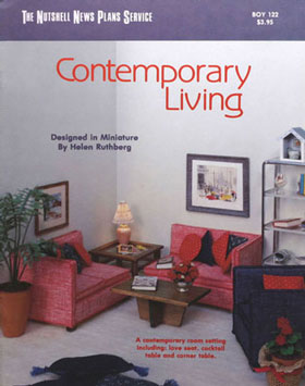 Dollhouse Miniature Contemporary Living