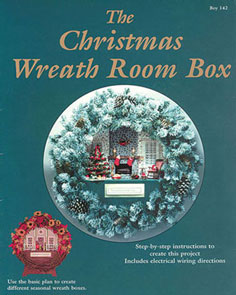 Dollhouse Miniature Christmas Wreath Room Box