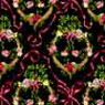 Dollhouse Miniature Wallpaper: Victoria, Black