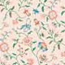 Dollhouse Miniature Wallpaper: Papillion Peach