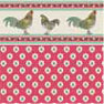 Dollhouse Miniature Wallpaper: Rooster