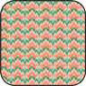 Dollhouse Miniature Cotton Fabric: Bargello Peach