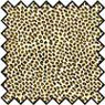 Dollhouse Miniature Silk Fabric: Leopard