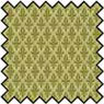 Dollhouse Miniature Silk Fabric: Damask - Green