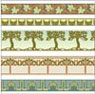 Dollhouse Miniature 1/2In Scale Wallpaper: Arts & Crafts Borders