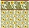 Dollhouse Miniature 1/2In Scale Wallpaper: Sunflower