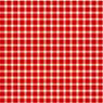 Dollhouse Miniature 1/2In Scale Wallpaper: Gingham, Red