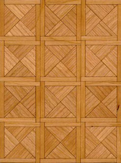 Dollhouse Miniature Parquet Kit: 1/2 Paris Cherry