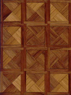 Dollhouse Miniature Parquet Kit: 1/2 Paris Walnut