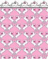 "Dollhouse Miniature 1/4"" Scale Wallpaper: Rabbits"