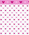 "Dollhouse Miniature 1/4"" Scale Wallpaper: Sweethearts"
