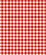 "Dollhouse Miniature 1/4"" Scale Wallpaper: Gingham, Red"