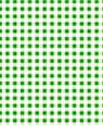 "Dollhouse Miniature 1/4"" Scale Wallpaper: Gingham, Green"