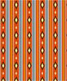 "Dollhouse Miniature 1/4"" Scale Wallpaper: Navaho"