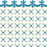 Dollhouse Miniature 1/2In Scale Wallpaper: Stencil, Blue