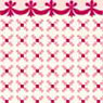 Dollhouse Miniature 1/2In Scale Wallpaper: Stencil, Red