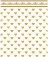 "Dollhouse Miniature 1/4"" Scale Wallpaper: Midas, Gold"