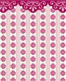 "Dollhouse Miniature 1/4"" Scale Wallpaper: Elegance, Garnet"