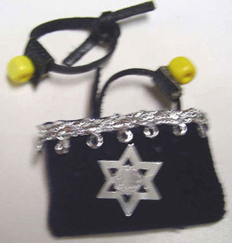 Dollhouse Miniature Tefillin & Bag