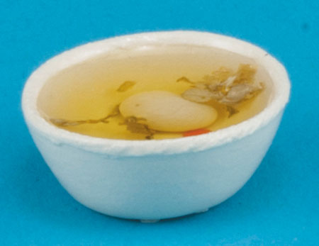 Dollhouse Miniature Bowl Of Chicken Soup