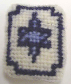 Dollhouse Miniature Star Needlepoint Pillow