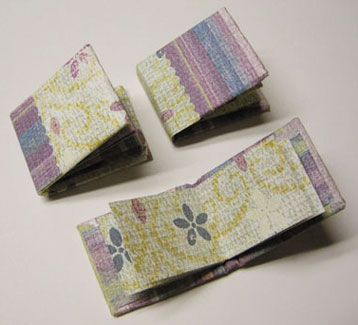 Dollhouse Miniature Scrapbook Albums - 2 Blank