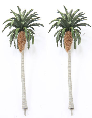 Dollhouse Miniature Date Palm Trees, 4-1/2 To 5 Inch Tall, 2Pc