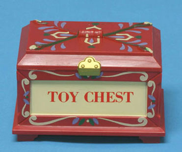 Dollhouse Miniature Toy Chest, Opens, Assorted Color