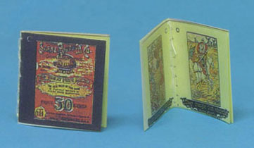 Dollhouse Miniature Don Quixote & Sears Readable Books, Antique Repro
