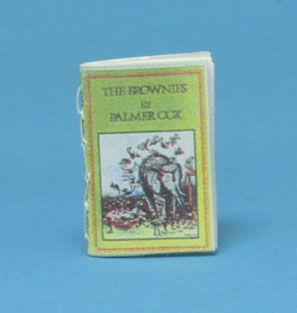 Dollhouse Miniature The Brownies Readable Book, Antique Repro