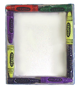 Dollhouse Miniature Crayon Picture Frame