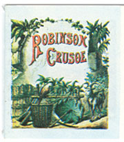 Dollhouse Miniature Robinson Crusoe, Readable Book